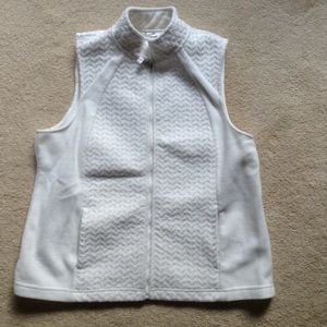 Croat & Barrow white zip fleece vest